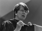 Janet Reno speaking at Commencement